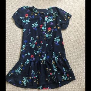 Parker navy fall floral dress